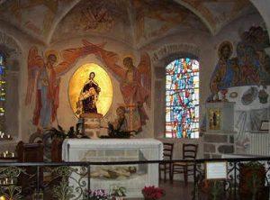 autel et resque de Notre Dame de Pitié à St genest Lerpt 42