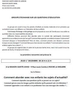 invitation pour une première rencontre groupe d'échange education
