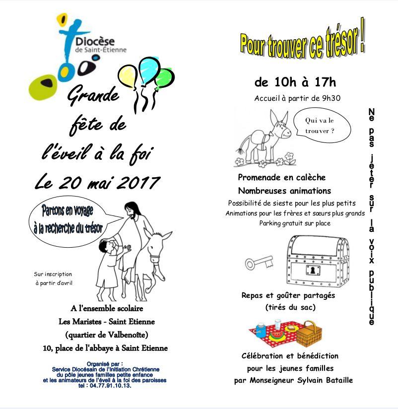 Invitation Fête de l'Eveil 20 Mai 2017