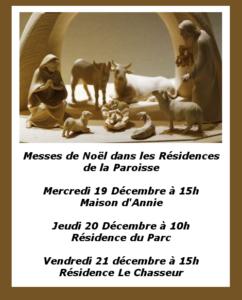 Messes Résidence Noël 2018
