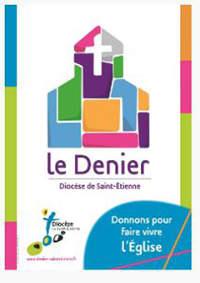 logo denier campagne 2016 diocèse de st etienne loire couleurs vert bleu rose