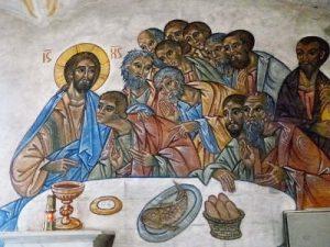 Fresque de la Cène intérieur de la Chapelle Notre Dame de Pitié