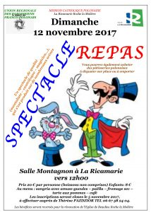 repas spectacle dimanche 12 novembre affiche